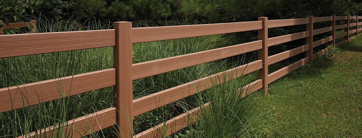 RAIL POST & RAIL WITH 4 - 3 -2 CERTAGRAIN® TEXTURE
