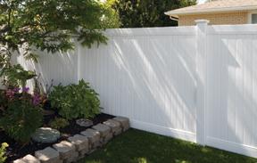 גדר לבנה לגינה פרטיות מלאה