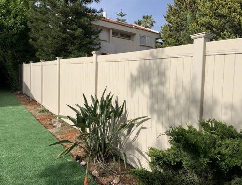 גדר פרטיות מלאה באלפי מנשה עם יציקה