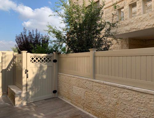 התקנת גדרות ושער לגינה בחשמונאים